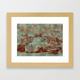 1950 Ford F100- Textured Rust Framed Art Print
