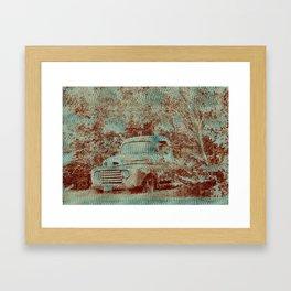 1950 Ford F100- Textured Rust Framed Art Print