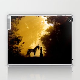 Magical Forest with a Lady and a Unicorn Laptop & iPad Skin