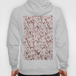 Rose Gold Love Hearts on Marble Hoody