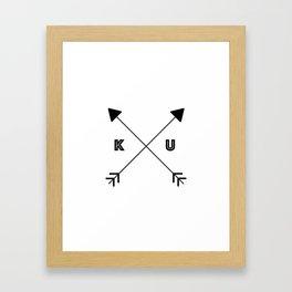 Kansas x KU Framed Art Print
