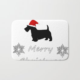 "Scottish Terrier ""Merry Christmas"" Bath Mat"
