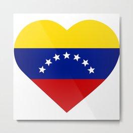 Venezuelan heart - Corazon Venezolano Metal Print