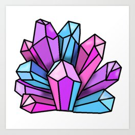 Bisexual Crystals Art Print