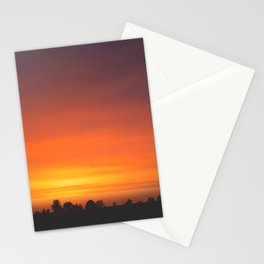 SUNRISE - SUNSET - ORANGE SKY - PHOTOGRAPHY Stationery Cards