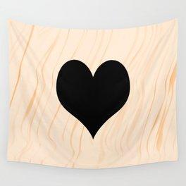 Scrabble Heart - Scrabble Love Wall Tapestry