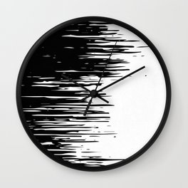 Carefree Black and White Wall Clock