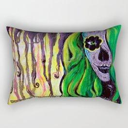 Citrus Sugar Skull Rectangular Pillow