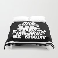 strong Duvet Covers featuring STRONG by ALLTYPE