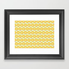 Party Ring Biscuit Pattern Framed Art Print