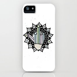 Middle Finger Mandala (Crystal) iPhone Case