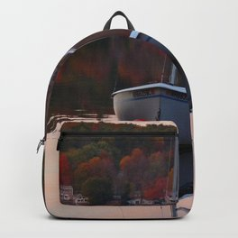 Sail Boat In Fall Backpack