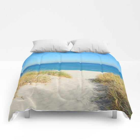 Sand coast by the sea. Comforters