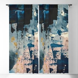 Pleiades: a minimal, abstract mixed media piece by Alyssa Hamilton Art in Pink, Gold, and Blue Blackout Curtain