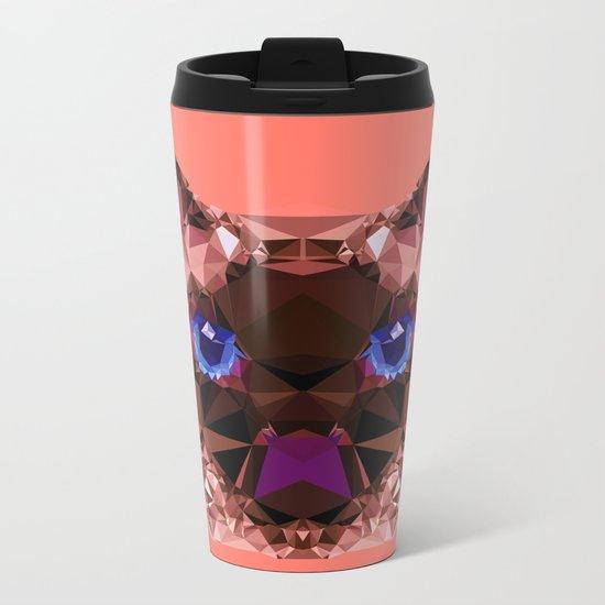 Geometric GrumpyCat Metal Travel Mug