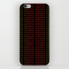 Binary Green and Red With Spaces iPhone Skin