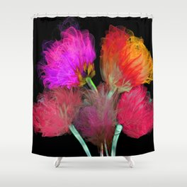 Five Flowers Shower Curtain