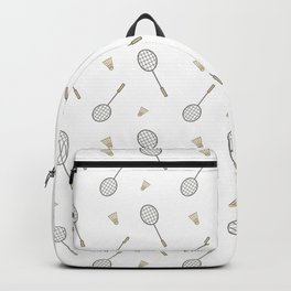 Badminton sport pattern Backpack
