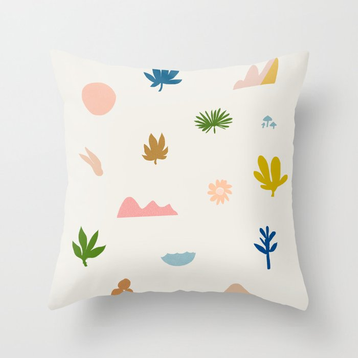 Abstraction_Nature_Wonderful_Day_02 Throw Pillow