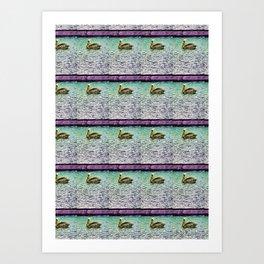 Pelican Pattern (d) Art Print