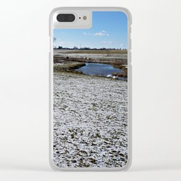 Rural Farmland and Stream Clear iPhone Case