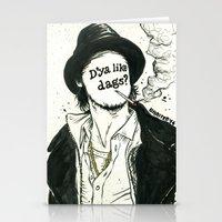 "snatch Stationery Cards featuring ""D'ya like dags?"", 2014 by Unaitxo"