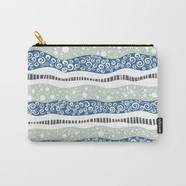 Swirly Lanes Carry-All Pouch