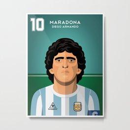 Maradona 1986 Metal Print