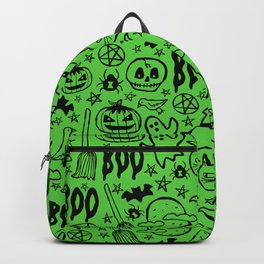Spooky Pattern - Lime Green Backpack