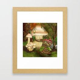 Fungus Cottage -  Ella Springhollow Scene 1 Framed Art Print