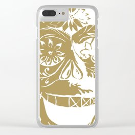 Gold skull Clear iPhone Case