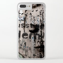 Change is a positive act Clear iPhone Case