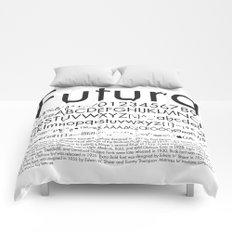 Futura (Black) Comforters