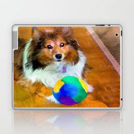 Sheltie with Ball Laptop & iPad Skin