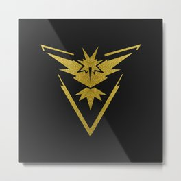 Team Instinct Sparkly yellow gold sparkles Metal Print