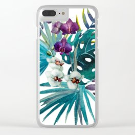 Jungle Beauty Clear iPhone Case