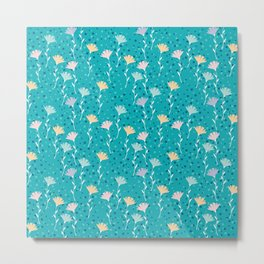 Washed out flowers pattern. Metal Print