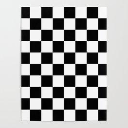 Black White Checker Poster