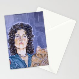 In Space No One Can Hear Your Cat Stationery Cards