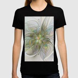 Floral Fantasy, Abstract Fractal Art T-shirt