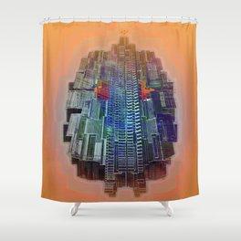 Buble Lab Robotics Space Shower Curtain