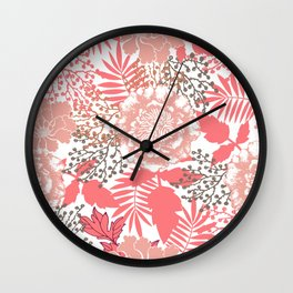 Pink peonies. Wall Clock