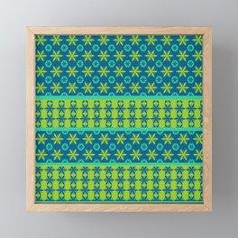 Floral motif ethnic pattern Framed Mini Art Print
