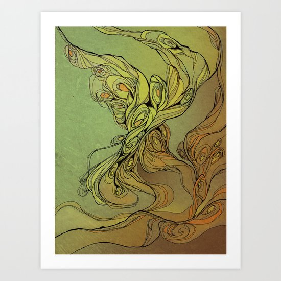 abstract floral composition Art Print