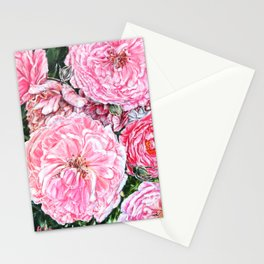 CELEBRATIONS - PEONIES GALORE- Original Fine art floral painting by HSIN LIN / HSIN LIN ART Stationery Cards