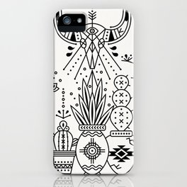 Santa Fe Garden – Black Ink iPhone Case