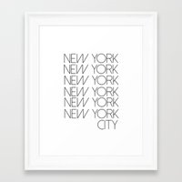 new york city Framed Art Prints featuring New York New York City by Stylish in Sequins
