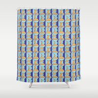 code Shower Curtains featuring Coatl Code by Pamku