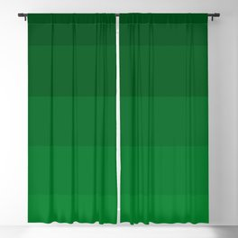 Rich Forest Evergreen Stripes Ombre Blackout Curtain