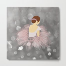 Ballerina Dancer V2 Metal Print
